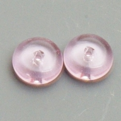 Glaskraal, disc, roze, 4 x 8 mm (20 st.)