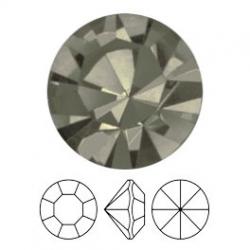 Preciosa, puntplaksteen, Mc Chaton Optima, SS16, Black Diomond, Gold Foiled, 4 mm rond (1 st.)