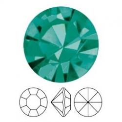 Preciosa, puntplaksteen, Mc Chaton Optima, SS39, Blue Zircon, Gold Foiled, 8 mm rond (1 st.)
