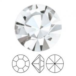 Preciosa, puntplaksteen, Mc Chaton Optima, SS29, Crystal, Gold Foiled, 6 mm rond (1 st.)