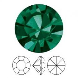 Preciosa, puntplaksteen, Mc Chaton Optima, SS16, Emerald, Gold Foiled, 4 mm rond (1 st.)
