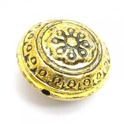 Metallook kraal, rond (plat), goud, 20 mm (10 st.)