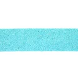 Veter, suede, plat, 10 mm, lichtblauw (1 meter)