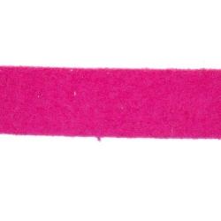 Veter, suede, plat, 10 mm, fuchsia (1 meter)