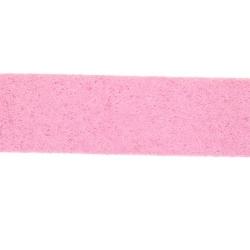 Veter, suede, plat, 10 mm, lichtroze (1 meter)