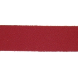 PU leer, plat, 10 mm, rood (1 meter)