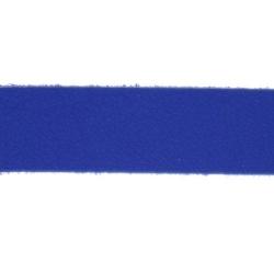 PU leer, plat, 10 mm, kobaltblauw (1 meter)