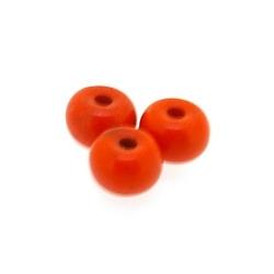 Gekleurd Turquoise kraal, oranje, donut, 4 x 6 mm (ca. 95 st.)