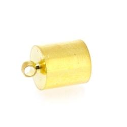 Eindkapje, goud, rond, 13 mm, binnenmaat 8,5 mm (6 st.)