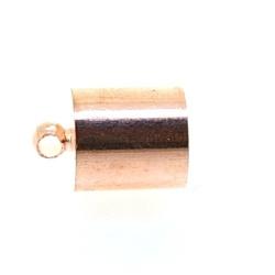 Eindkapje, roségoud, rond, 13 mm, binnenmaat 8,5 mm (6 st.)