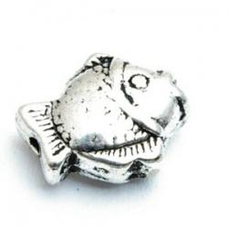 Metalen kraal, vis, zilver, 15 mm (5 st.)