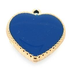 Resin, hanger, hart, blauw, 24 mm (3 st.)