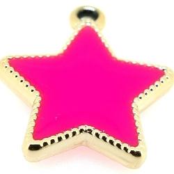 Resin, hanger, ster, roze, 30 mm (3 st.)