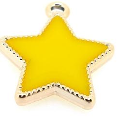 Resin, hanger, ster, geel, 30 mm (3 st.)