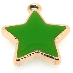 Resin, hanger, ster, groen, 30 mm (3 st.)