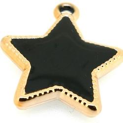 Resin, hanger, ster, zwart, 30 mm (3 st.)