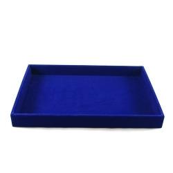 Presentatiedisplay, velours, blauw (1 st.)