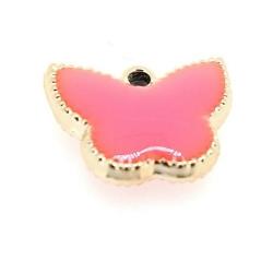 Resin, hanger, vlinder, roze, 14 x 17 mm (6 st.)