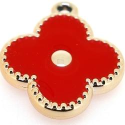 Resin, hanger, bloem, rood, 32 mm (3 st.)