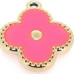 Resin, hanger, bloem, roze, 32 mm (3 st.)