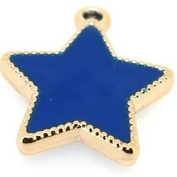 Resin, hanger, ster, blauw, 30 mm (3 st.)