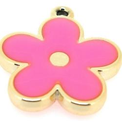 Resin, hanger, bloem, roze, 37 mm (2 st.)