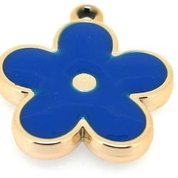 Resin, hanger, bloem, blauw, 37 mm (2 st.)