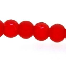 Glaskraal, rond, rood, 6 mm (streng)