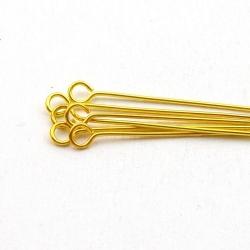 Kettelstiften, goud, 60 mm (10 gram)