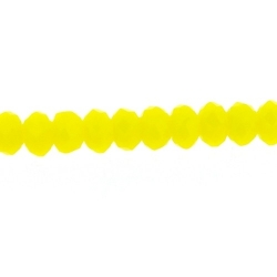Glaskraal, donut met facetten, geel, 2 x 3 mm (streng)