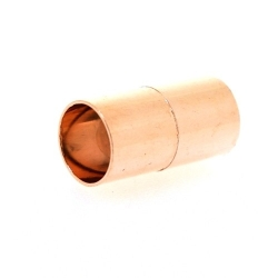 Magneetslot, roségoud, 16 mm, binnenmaat 6 mm (2 st.)