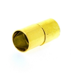 Magneetslot, goud, 16 mm, binnenmaat 7 mm (2 st.)