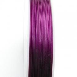 Staaldraad paars/aubergine 0.6mm (100 meter)