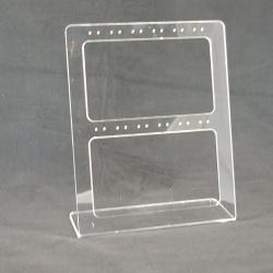 Oorbeldisplay, plexi, transparant, 12 paar (1 st.)