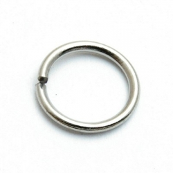 Ring open zilver 16 mm (20 st.)