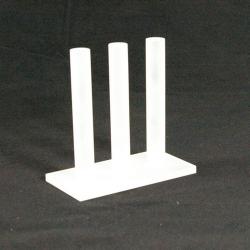 Ringstandaard 3 rij plexi frost (1 st.)