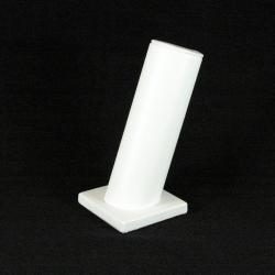 Armband display, schuin, PU leer, wit, 1 rol (1 st.)
