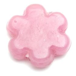 Glaskraal, bloemvorm, roze, 32 x 10 mm (1 st.)