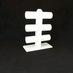 Armband display, staand, PU leer, wit, 6 rollen(1 st.)