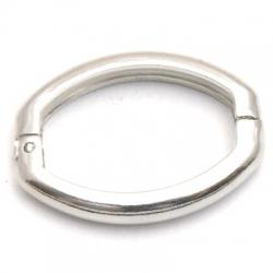 Clip voor ketting, zilver, 27x20 mm (3 st.)