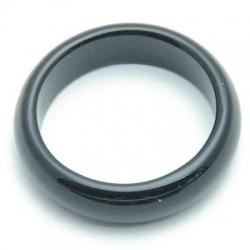 Ring, halfedelsteen, onyx, maat 18.5 (1 st.)