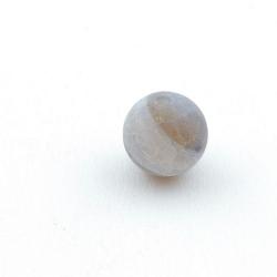 Fire Agaat, kraal, rond, matgrijs, 10 mm (5 st.)