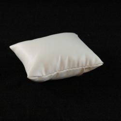 Sieradenkussentje, PU leer, wit, 12 x 9 cm (1 st.)