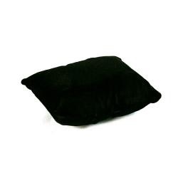 Sieradenkussentje, velours, zwart, 12 x 9 cm (1 st.)