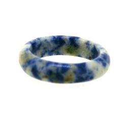 Ring, halfedelsteen, Sodaliet, maat 20 (1 st.)