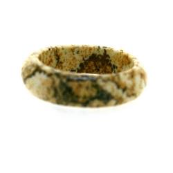 Ring, halfedelsteen, Grainstone, maat 15.5 (1 st.)