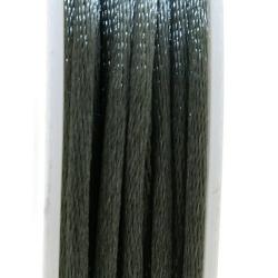 Satijndraad, 2 mm, (licht) legergroen (5 meter)