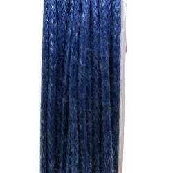 Waxkoord, donkerblauw, 1 mm (10 meter)