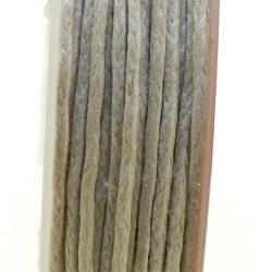 Waxkoord, muisgrijs, 1 mm (10 meter)