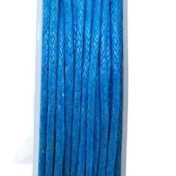 Waxkoord, lichtblauw, 1 mm (10 meter)